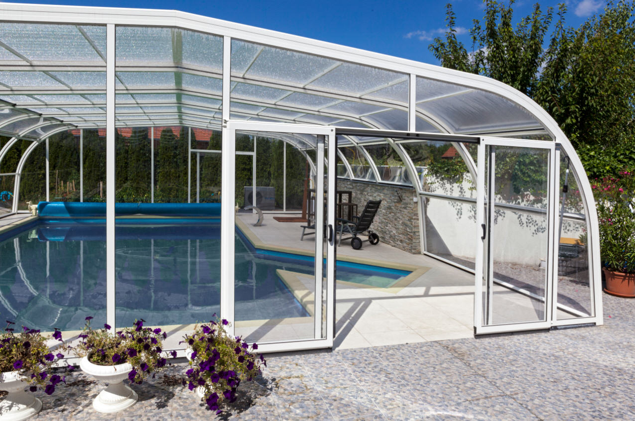 Galaxy-Domestic-Pool-Enclosure-Asymmetric-Freestanding-Sliding-End-Doors-Option-White