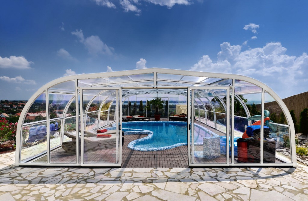 Galaxy Freestanding Pool Enclosure Design White 3