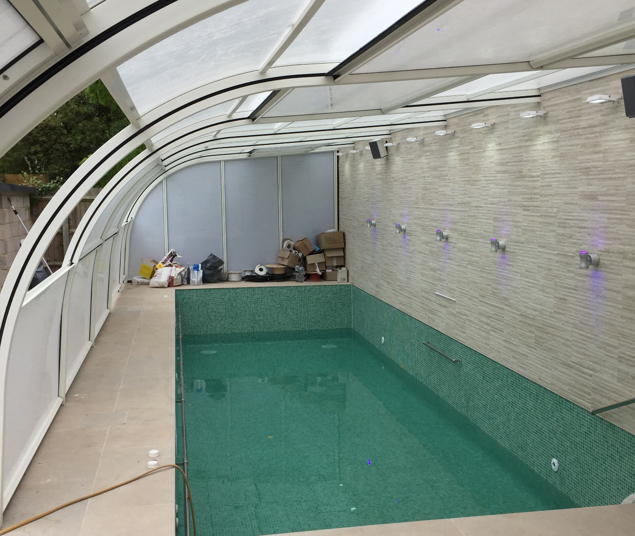 Galaxy-Lean-To-Pool-Enclosure-In-White