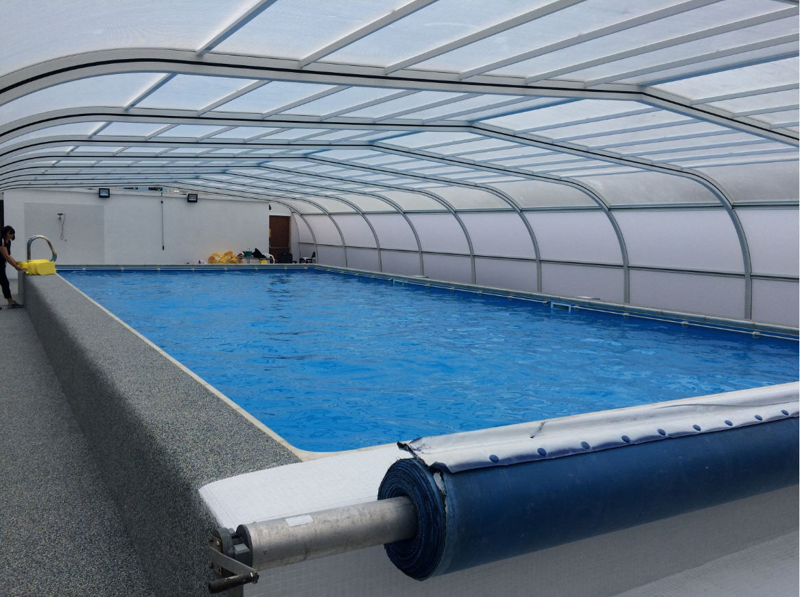 Galaxy-School-Pool-Enclosure-With-Changing-Rooms-Safety-Flooring-and-Roll-Out-Poolcover